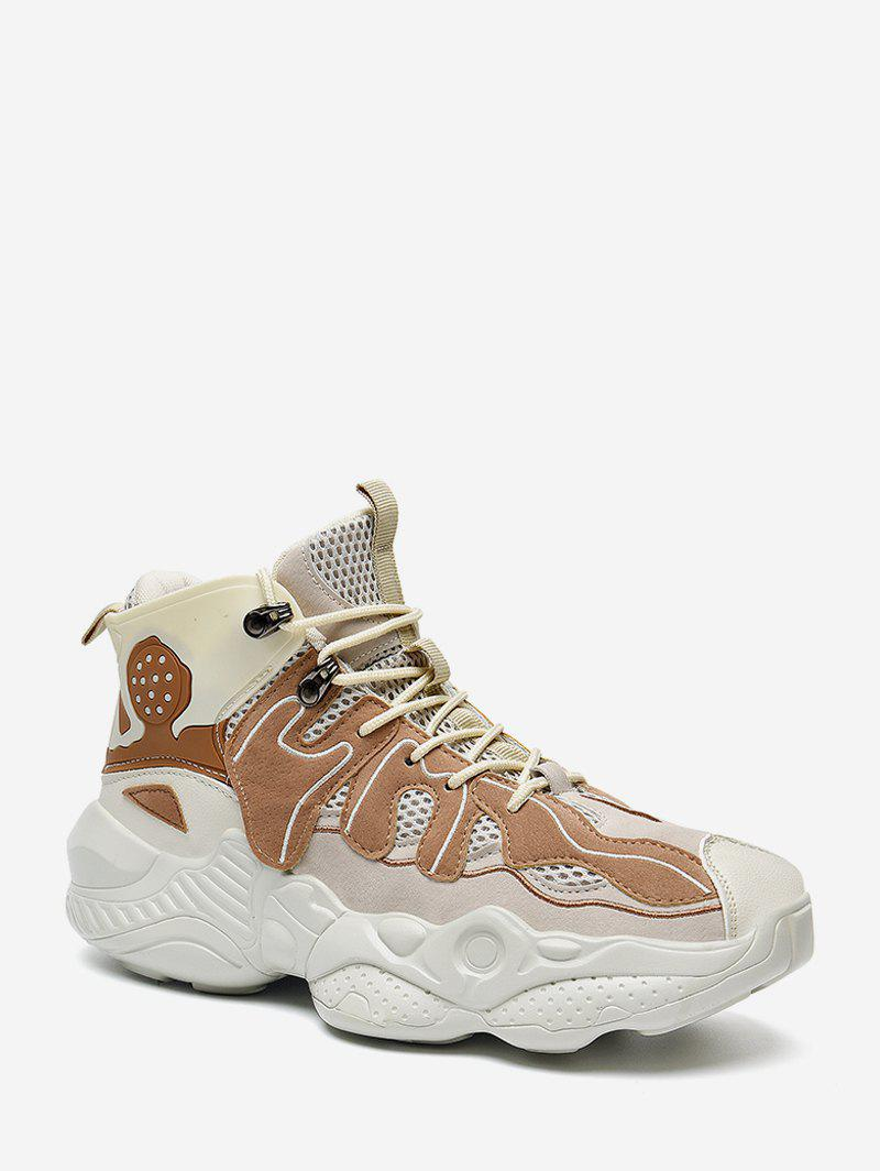Shop Color Block Breathable Basketball Sneakers