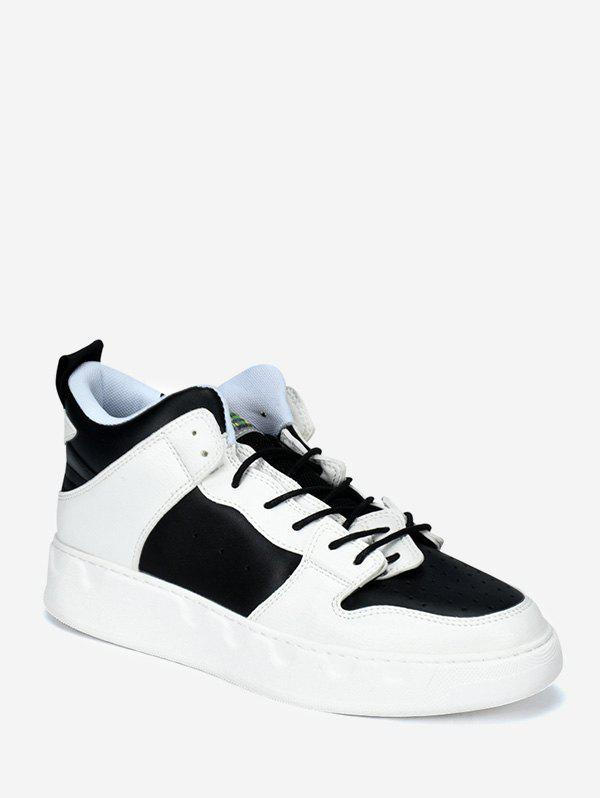 Fashion Color Block Casual Skate Shoes