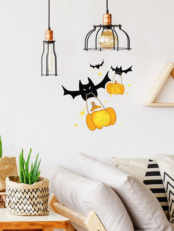 Affordable Halloween Bat Pumpkin Print Decorative Wall Art Stickers