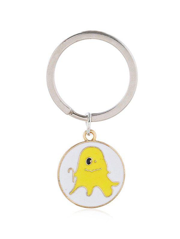 Outfit Alloy Halloween Cartoon Ghost Pattern Round Key Chain