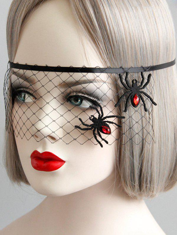Latest Gothic Halloween Mesh Spider Eye Mask