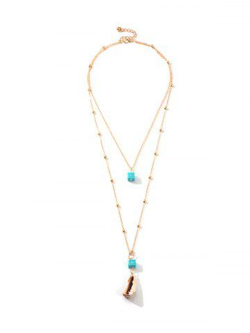 Conch Design Alloy Layered Necklace