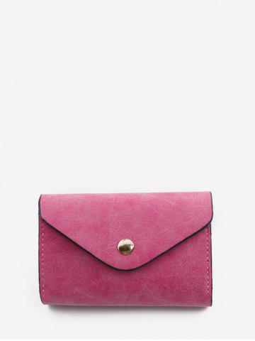 Snap Button PU Leather Card Bag