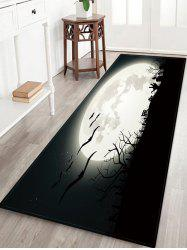 Halloween Bat Night Pattern Decor Rug -