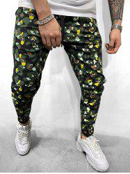 Colorful Leopard Print Casual Drawstring Pants -