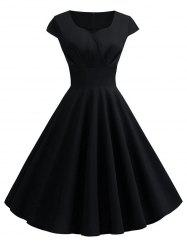 Plus Size Vintage Fit and Flare Dress -