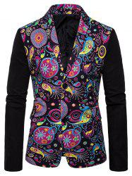 Floral Print Casual Long-sleeved Blazer -