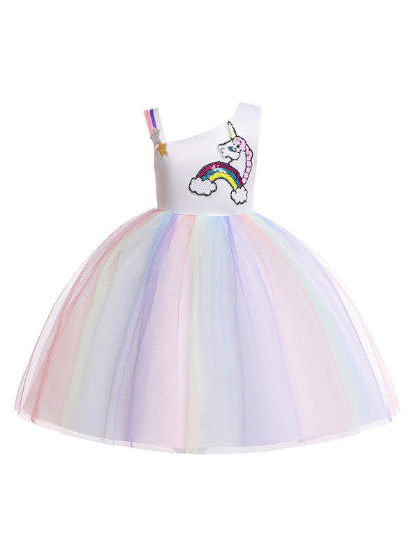 Shops Unicorn Rainbow Pattern Sleeveless A Line Tulle Dress
