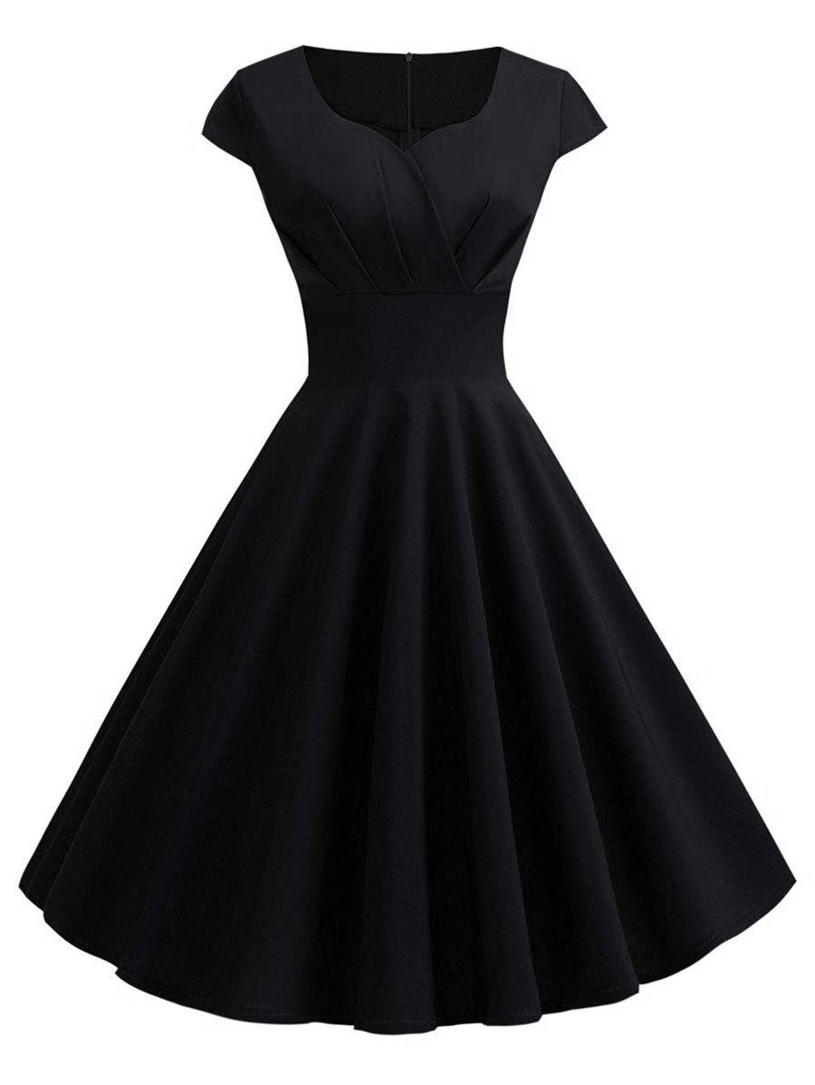 Best Plus Size Vintage Fit and Flare Dress