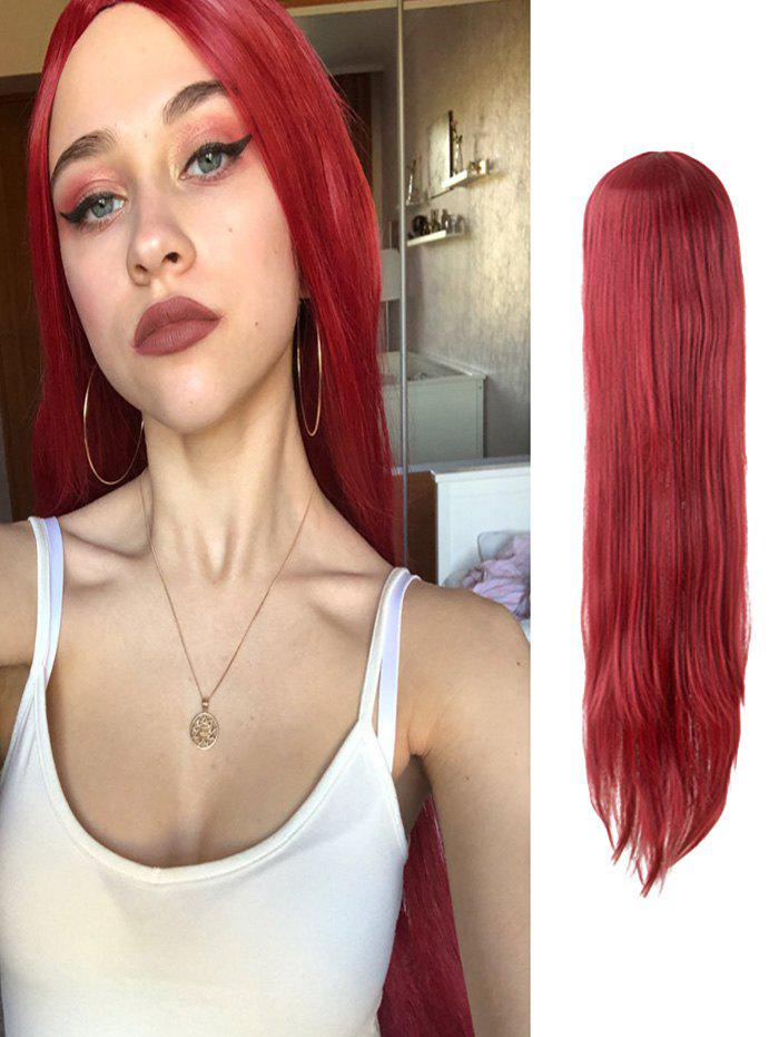 Fancy Cosplay Long Straight Center Part Halloween Wig