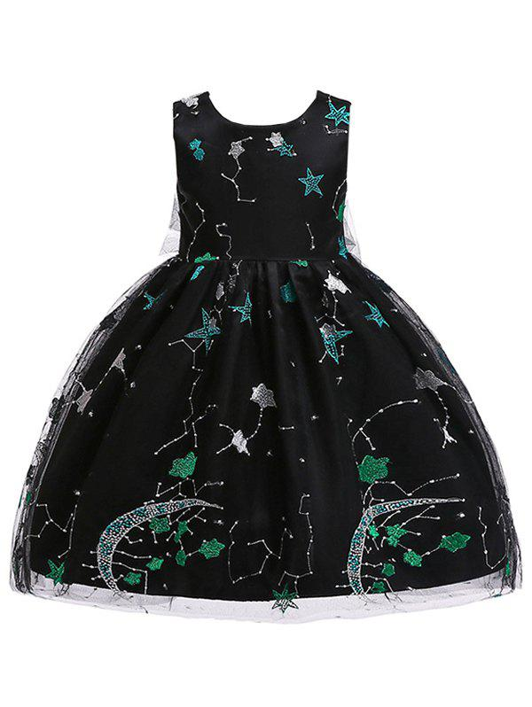 Hot Star Embroidery Sleeveless A Line Tulle Dress