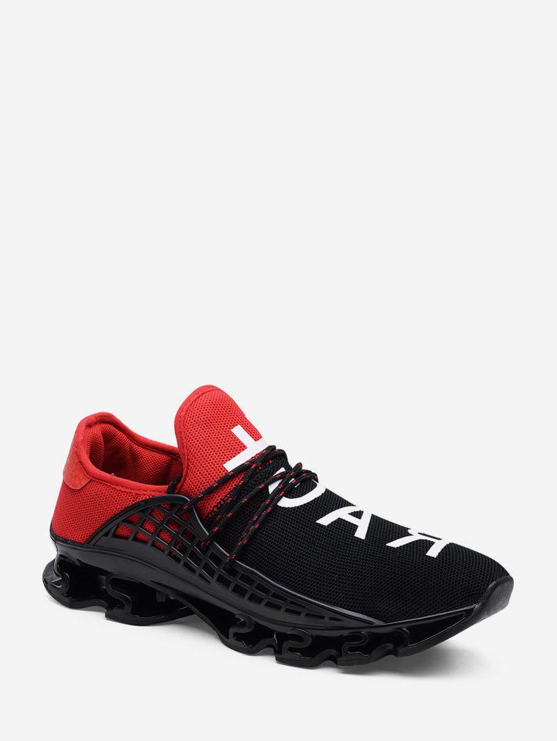 Discount Woven Mesh Letter Graphic Sport Shoes