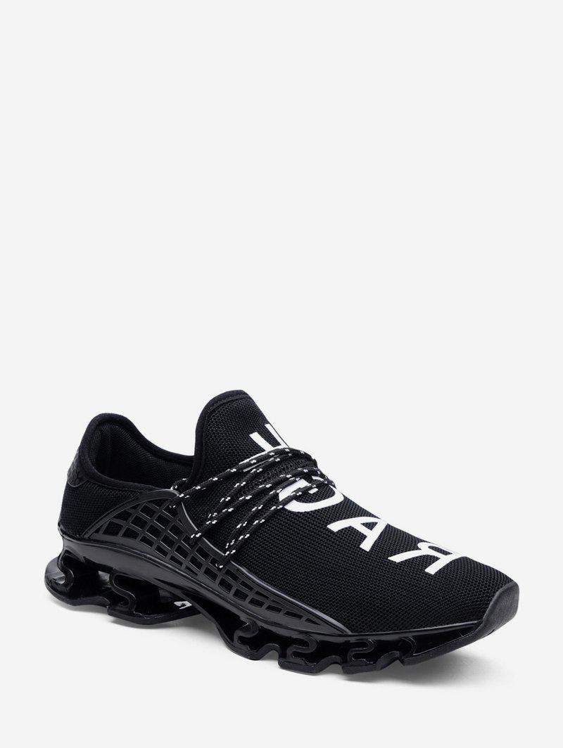 Affordable Woven Mesh Letter Graphic Sport Shoes