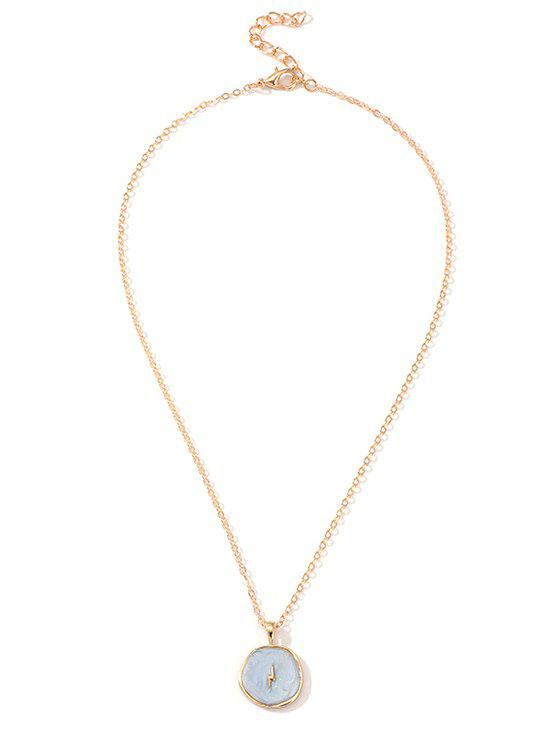 Fancy Simple Round Pendant Chain Necklace