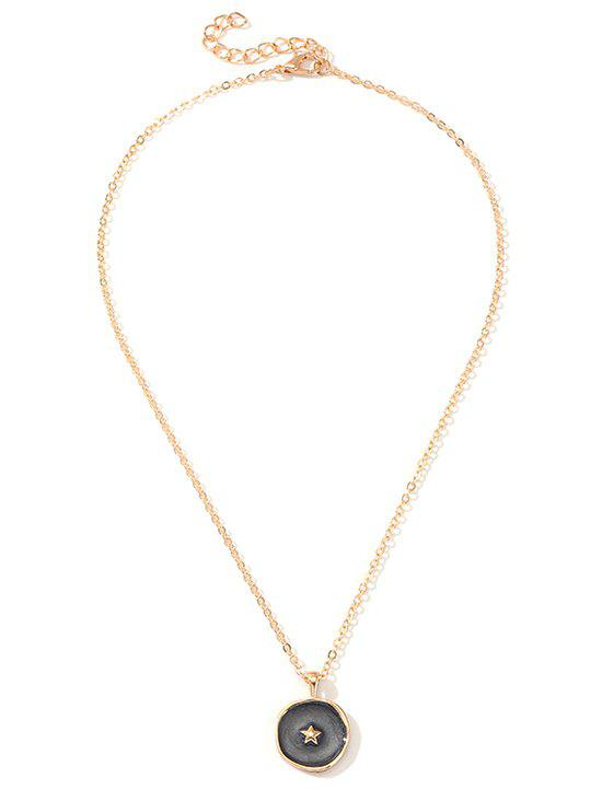 Cheap Simple Round Pendant Chain Necklace