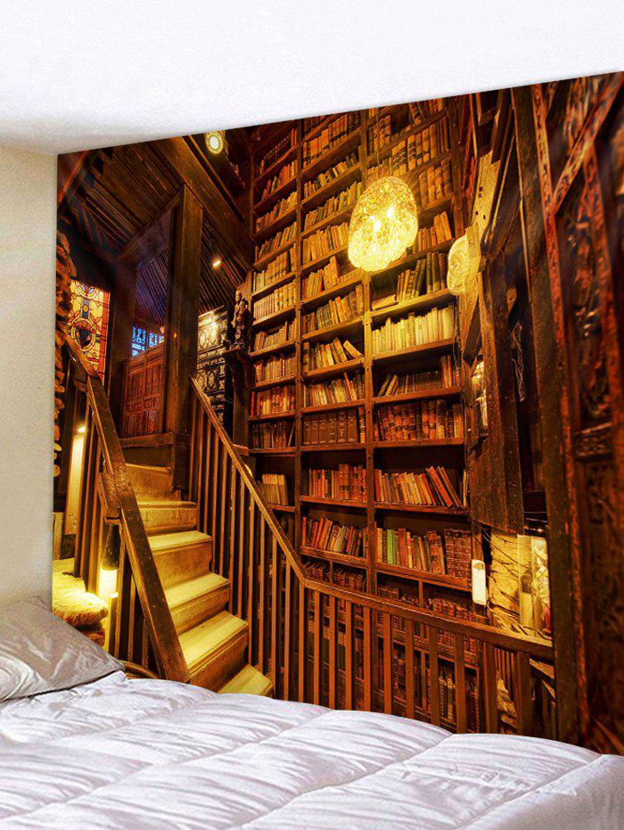 Fashion Bookshelf Print Tapestry Wall Hanging Art Decoration