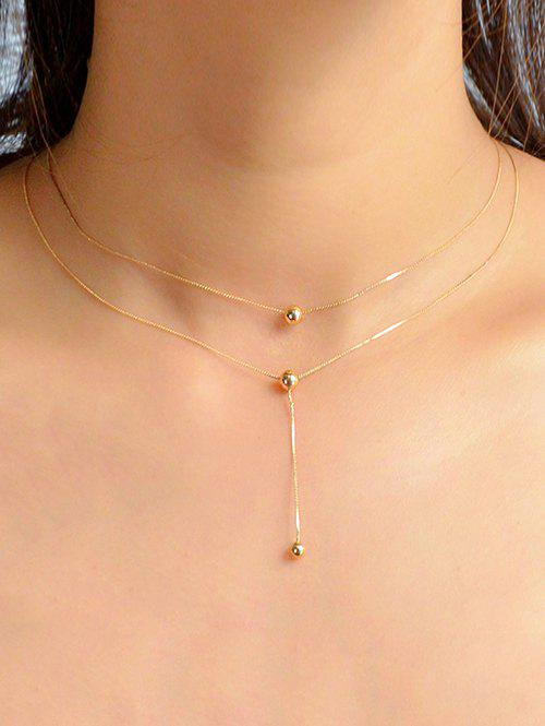 Chic Ball Pendent Alloy Chain Necklace
