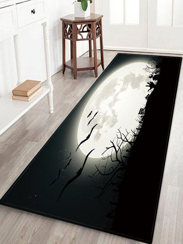 New Halloween Bat Night Pattern Decor Rug