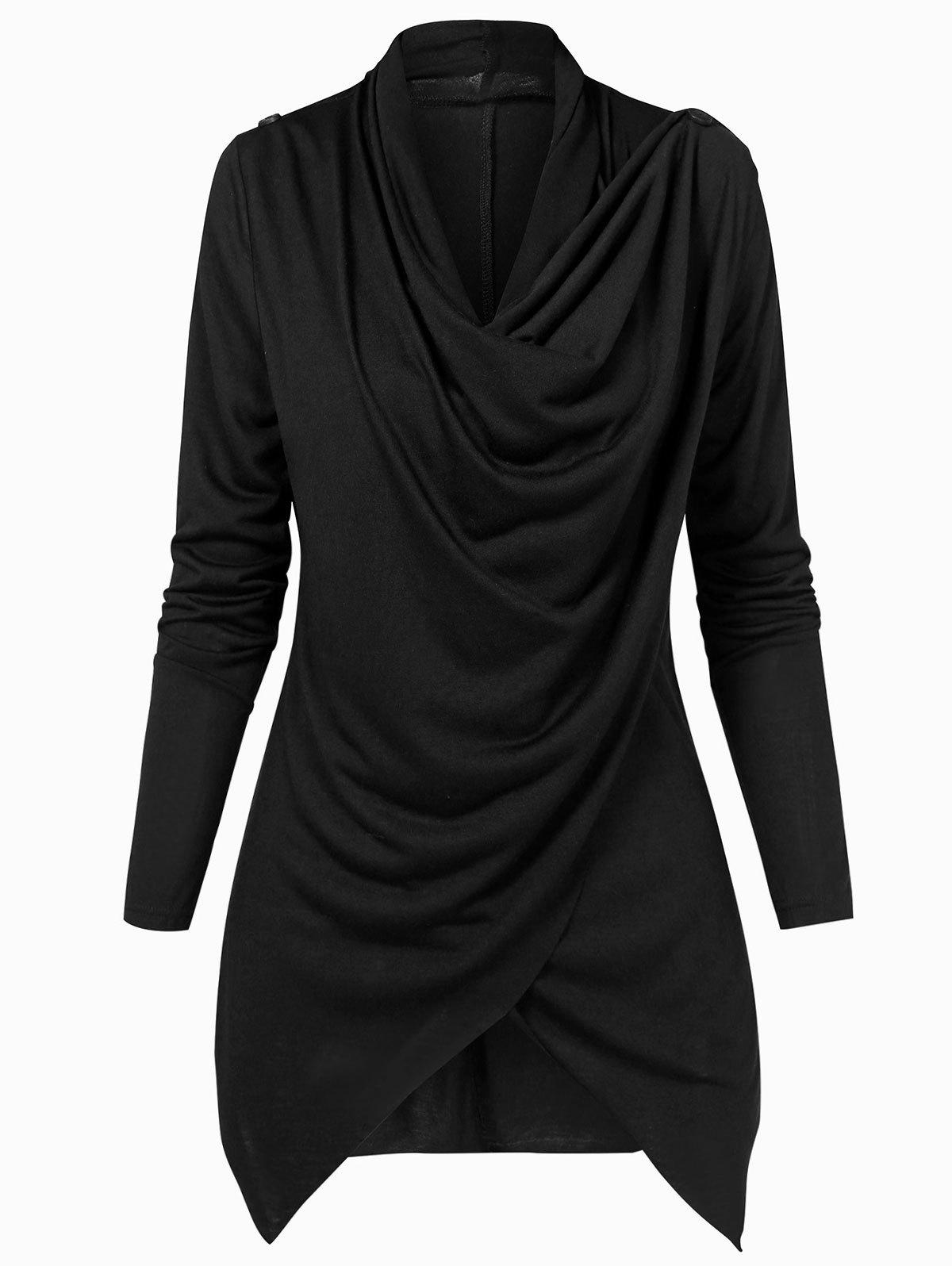 Unique Asymmetric Convertible Draped Cardigan