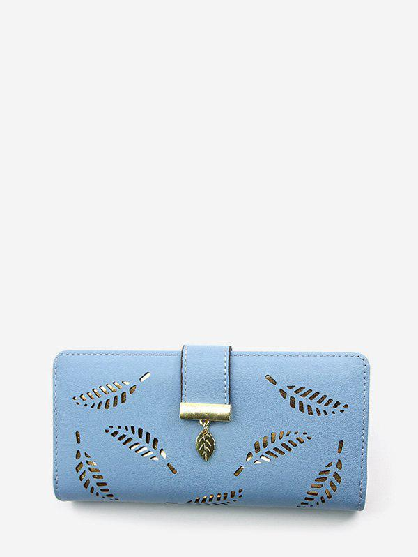 Outfit Leaf Hollow Out Zipper Wallet