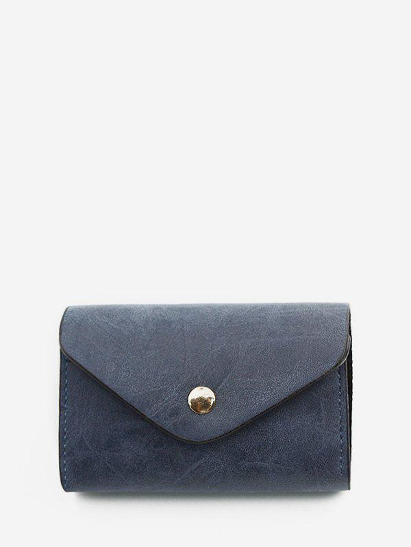 Outfits Snap Button PU Leather Card Bag