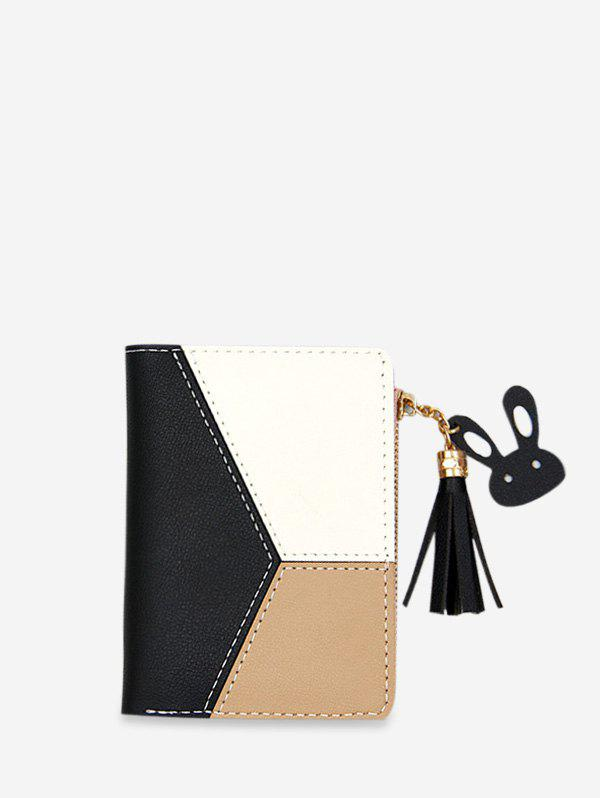 Affordable Color Block PU Leather Card Holder