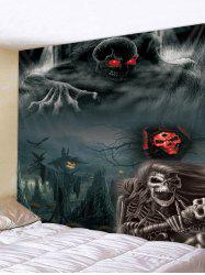 Halloween Night Skeleton Print Tapestry Wall Hanging Art Decoration -