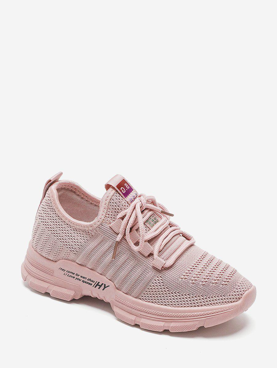 Chic Casual Lace Up Breathable Mesh Sneakers