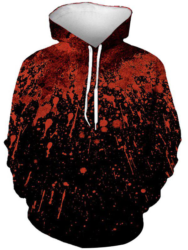 Hot Halloween Splatter Blood Print Front Pocket Hoodie