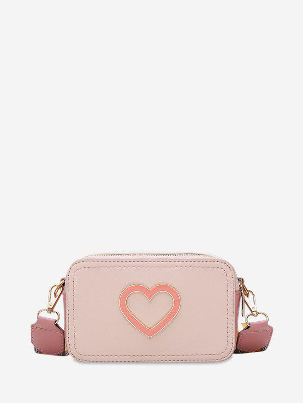 Outfits Striped Strap Rectangle Heart Crossbody Bag