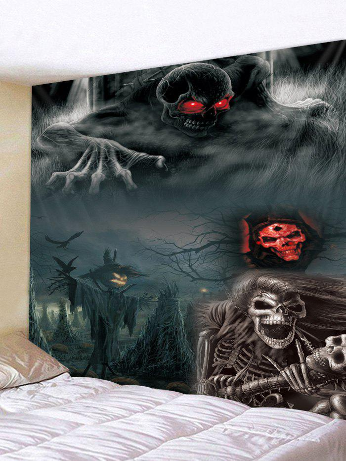 Latest Halloween Night Skeleton Print Tapestry Wall Hanging Art Decoration