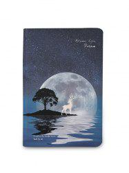 A5 Notebook with Starry Sky and Elk Pattern Luminous Cover -