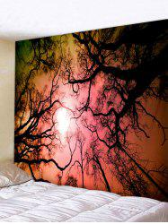 Forest Sky Galaxy Print Tapestry Wall Hanging Art Decoration -