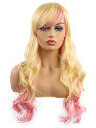 Oblique Bang Gradient Body Wave Synthetic Long Wig -