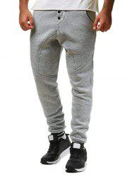 Stripe Hem Long Drawstring Sport Jogger Pants -