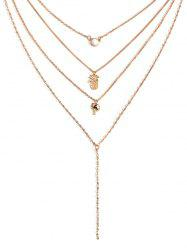 Pineapple Coconut Tree Multilayered Necklace -