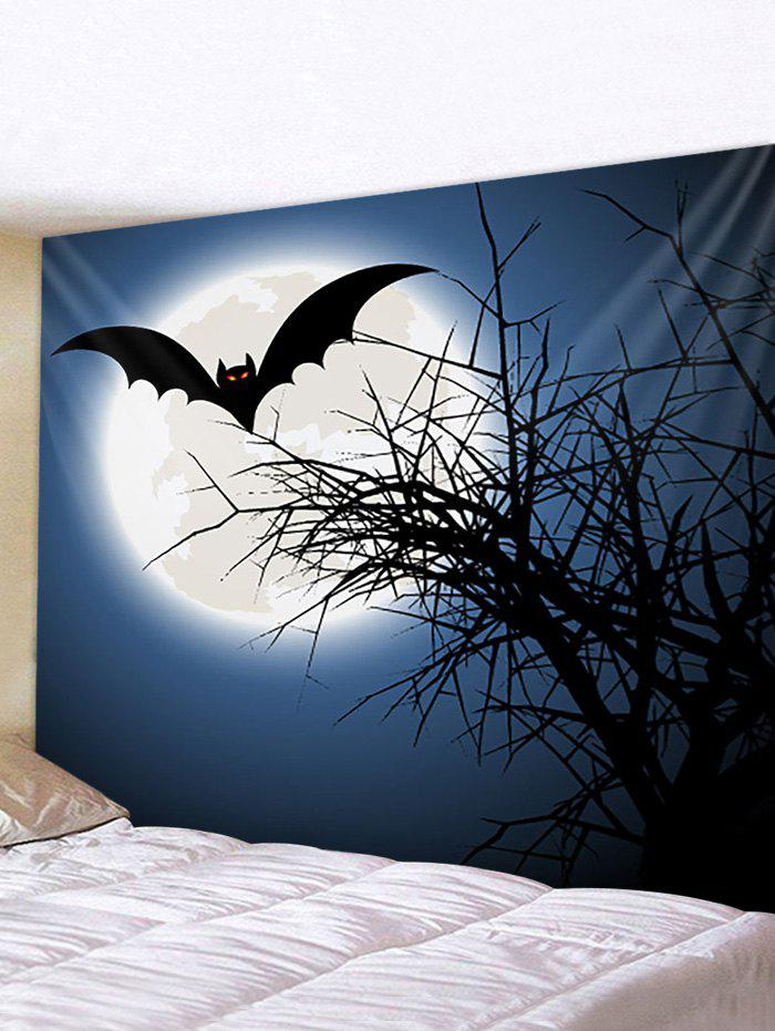 New Halloween Moon Bat Print Waterproof Wall Tapestry