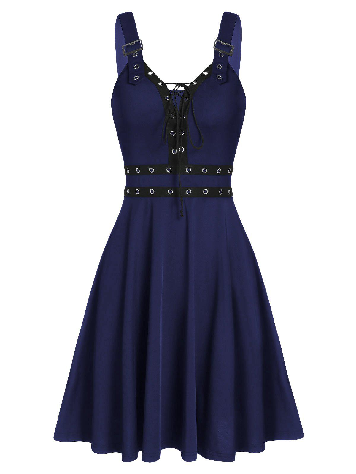 Best Sweetheart Collar A Line Rings Gothic Dress