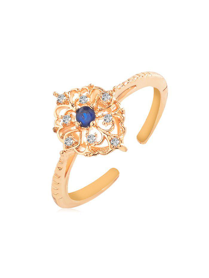 Outfit Faux Gem Rhinestone Decoration Open Ring