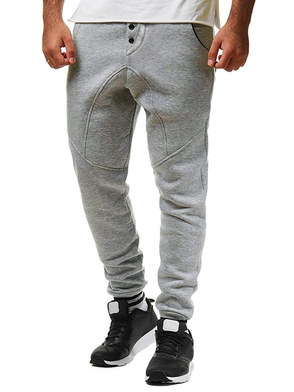 Buy Stripe Hem Long Drawstring Sport Jogger Pants