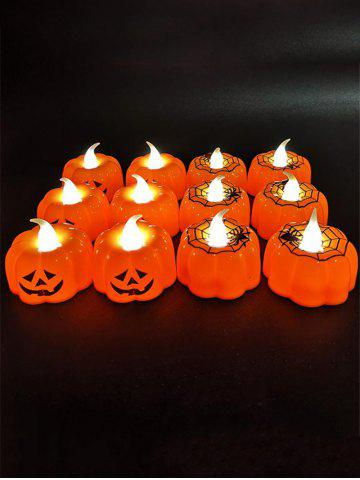 12 Pcs Halloween Pumpkin Shape Decorative LED Night Lights