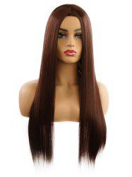 Synthetic Center Part Straight Long Wig -