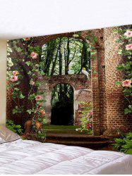 Forest Brick House Print Tapestry Wall Hanging Art Decoration -