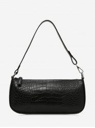 Retro Animal Embossed PU Leather Shoulder Bag -