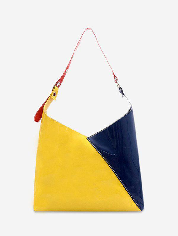 Affordable 2Pcs Geometric Color Block Tote Bag Set