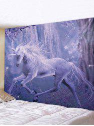 Forest Unicorn Print Tapestry Wall Hanging Art Decor -