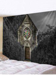 Halloween Forest Church Print Tapestry Wall Hanging Art Decoration -