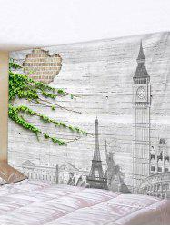 Broken Wall Landmarks Print Tapestry Wall Hanging Art Decoration -