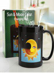 Space Pattern Temperature Sensing Color Change Ceramic Coffee Cup Morphing Mug -