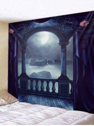 Moon Night Porch Print Tapestry Wall Hanging Art Decoration -
